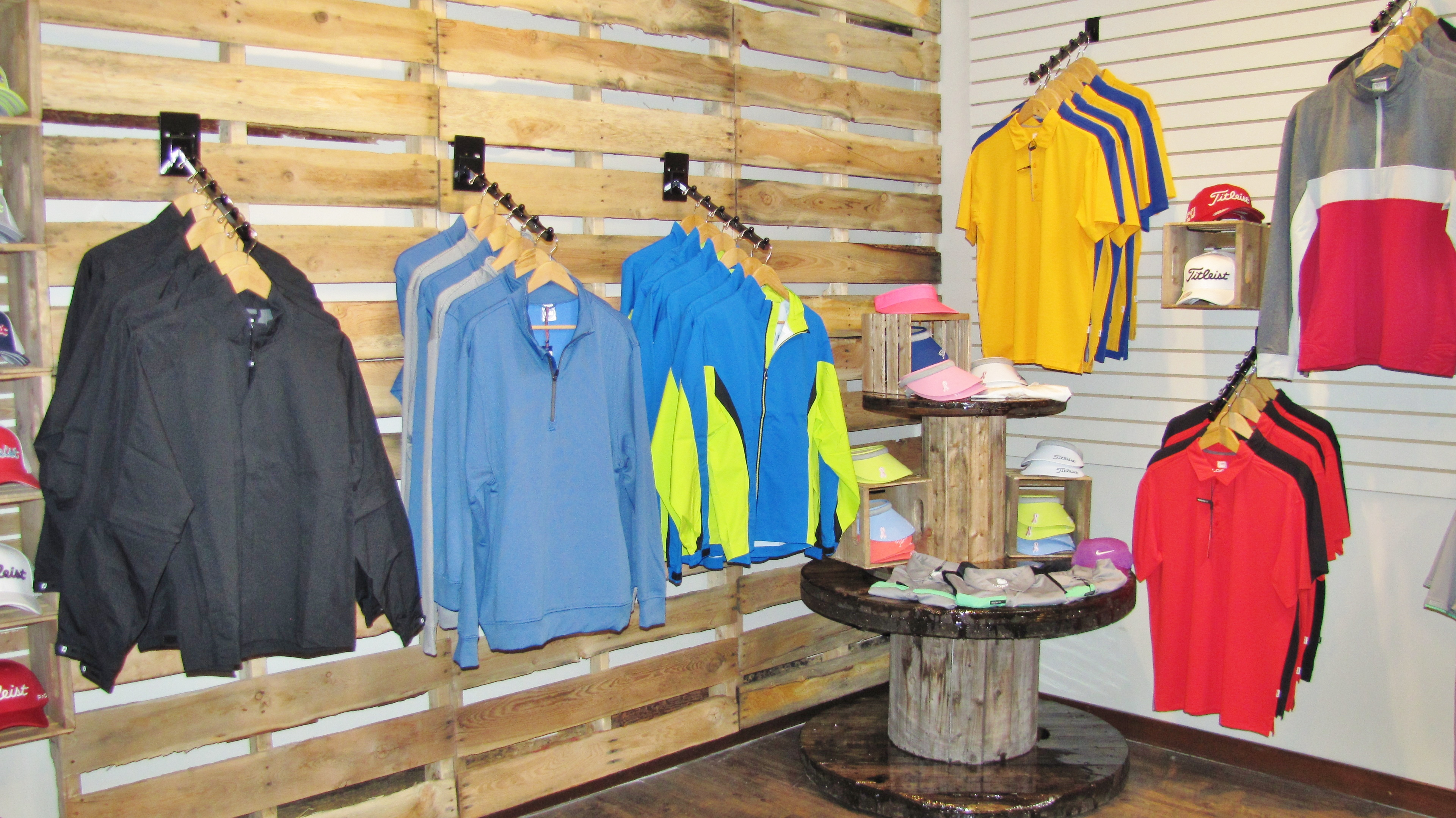 Redwoods shop with clothing on display
