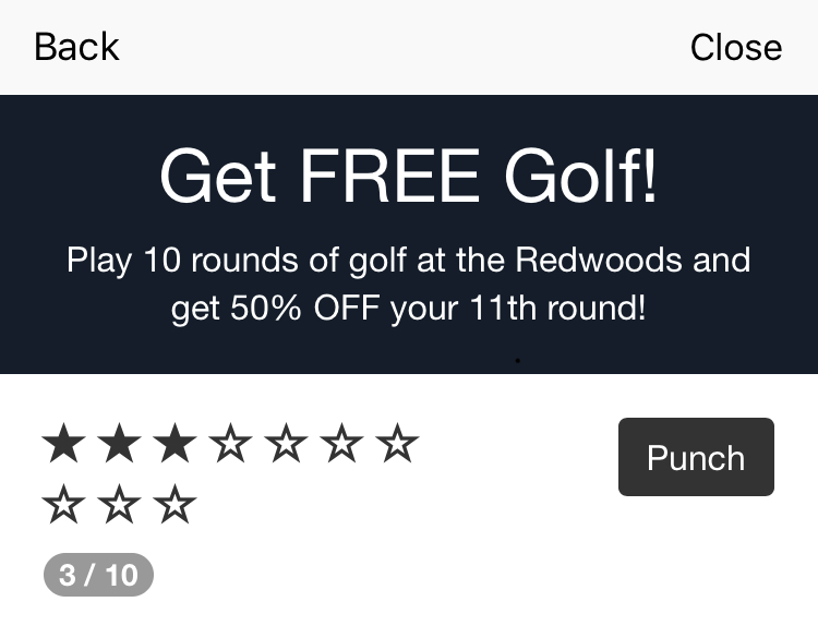 Get free golf loyalty program
