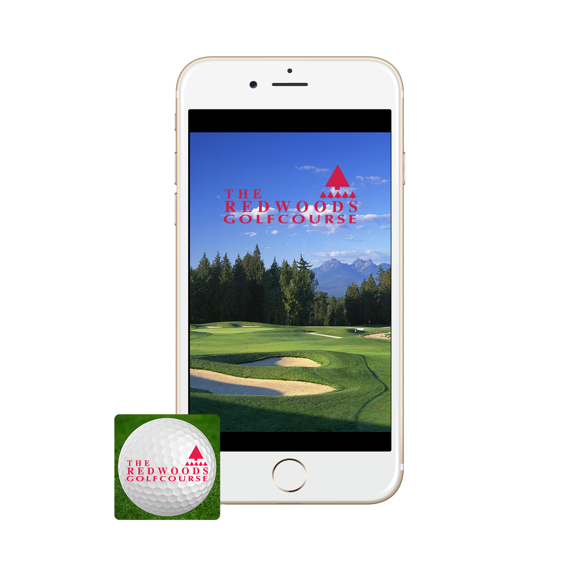 Redwoods golf course iPhone app with Icon