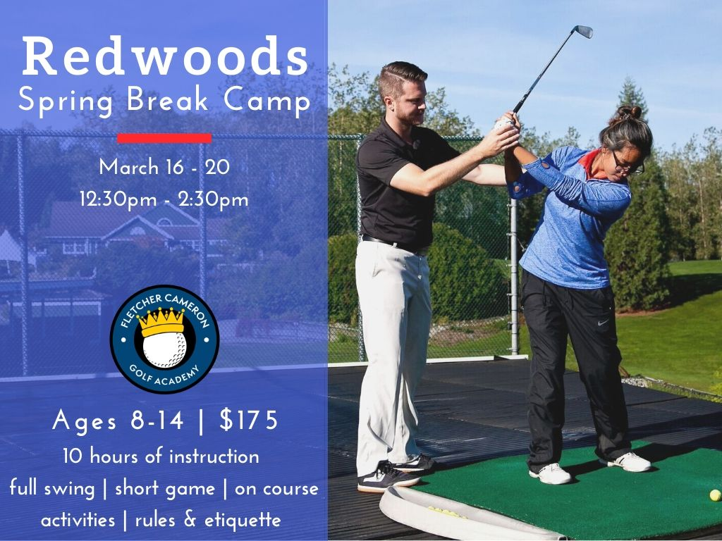 2020 Spring Break Camp at Redwoods Golf Course